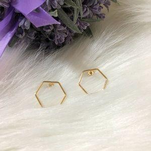 Jewelry - ●14KYG Over Brass Geometric Studs ●